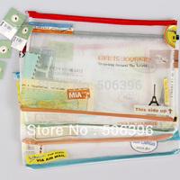 free shipping fashion kawaii stationery cute a4 pvc mesh file school document folder organizer holder storage bag case wholesale