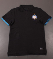 Ems free shipping Inter Milan  training polo with Brand Logos,Inter Milan black soccer polo ,Thai quality, Mixed order