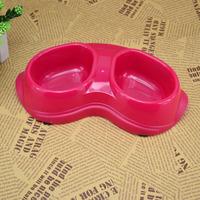 Slip-resistant cat double bowl belt slip-resistant double dog bowl pet bowl Small