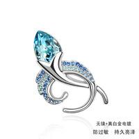 2014 Real Sale New Broche Brooch Hijab Brooch Fashion Austrian Crystal Bud Women's Accessories Corsage Jewelry Birthday Gift1.0