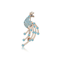 pearl rhinestone brooch Fashion austrian crystal brooch  peacock fairy women's accessories jewelry gift1.0