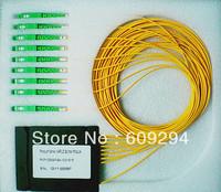 1x8 splitter SC/APC optical fiber PLC splitter, 1.5meters Cable diameters 3.0mm  planar light wave circuits splitter