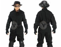 Black american fadac field training uniform security uniform men male uniform camouflage fadac field set