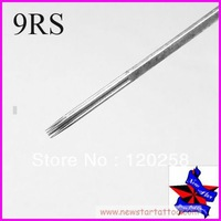 Free Shipping,50pcs/Set Sterilize Tattoo Needles Round Shader 9RS,Tattoo Machine Sterile Disposable Needles,wholesale needles