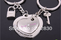 Lover couple Key Ring Chain true love forever necklace bracelet wallet accessory friend gift (Min.Order is $10,can mixed batch)