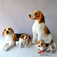 Free shipping 2014 New Stuffed Toys Beagle Simulation dog Plush toys Doll Birthday Lying squatting postureGenuine High quality