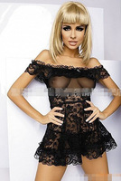 Free Shipping New Top Sexy Lace  Lingerie Women Black Princess Skirt  Dress +G-STRING Super Sexy SQL23