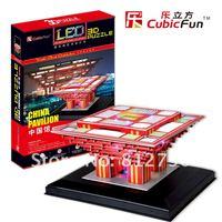 Free shipping chrismas day gift 3d blocks with led light display best gift for children