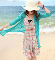 2013 summer  Women hot cotton Swimwear skirt  Cover Up coat  Beachwear candy color  Free shipping