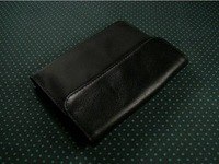 Men's cowhide wallet women's genuine leather folder personalized wallet ultra-thin fashion brief -wmqb1