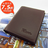 Free Shipping Male business casual first layer of cowhide wallet -wmqb2