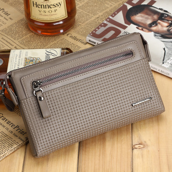 Free Shipping Man bag 2013 long design wallet genuine cowhide leather high quality bags wallet -wmqb2