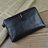 Free Shipping Classic fashion male cowhide genuine leather clutch bag commercial day clutch big capacity coin purse -wmqb2