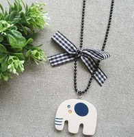 Promotion! Wholesale! Min.order is $10(mix order)Fashion wood elephant/bow pendant/Free shipping/ SN135