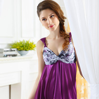 Hot selling Summer sleepwear female summer lounge viscose sexy nightgown spaghetti strap nightgown 2 13