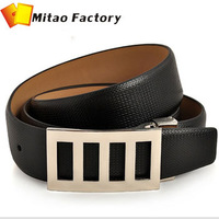 NEW ARRIVALS GENUINE COW LEATHER MEN BELT+MAN METAL BUCKLE BELTS 2 COLORS+COWSKIN WAIST BELT+FREE SHIPPING(1PC)