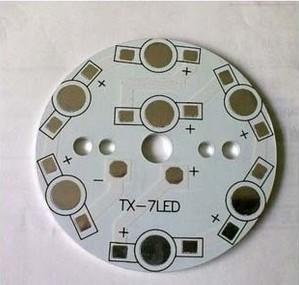 7 w aluminum plate ball steep light aluminum board and aluminum ceiling lamp base board 7 * 1 w to 3 w 50 mm aluminum substrate