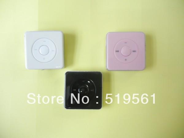 10pcs Hotsell Brand New Mini Good Quality Small Sugar Cube MP3 Player With TF/SD Card Slot 3 Colors HongKong Post Free Shipping(China (Mainland))