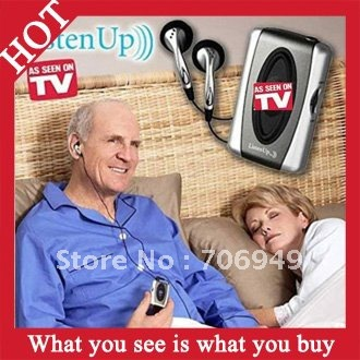 Free Shipping! 1pc Listen Up Personal Sound Amplifier &amp; Hearing Aid As Seen On TV -- MTV04 Wholesale(China (Mainland))