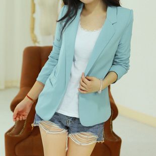 blazer women 2013 top Small suit jacket female suit slim sexy spring women's candy color fashion women blazer free shipping(China (Mainland))