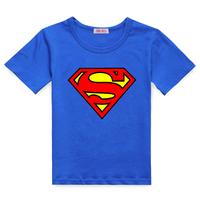Cool super man children's clothing child spring short-sleeve T-shirt male child summer 2013
