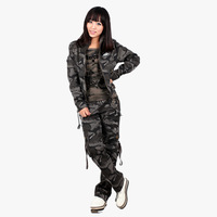 Camouflage female set long-sleeve T-shirt trousers casual Camouflage set Women  training suit Free Shipping
