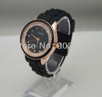 Wholesale 40pcs/lot fropshipping  nice silicone band wrist DMN watch, precise quartz movement, fashion design,11 colors