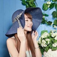 Wholesale Hat 10pcs  2014 NEW Colors Blank Large Straw Sun Wide Brim Hats Floppy Fedora Ladies Caps Women Summer Beach Straw Cap