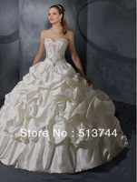 Free shipping! Wholesale Stock white sweetheart empire wedding dress / bride dress size 6 8 10 12 14 16