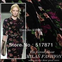 Free Shipping Mulberry Silk velvet fabric computer velvet clothes cheongsam plus size women clothing dress fabric wholesale OEM