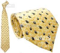 Standard Novelty Neckties Silk Ties Chinese Panda Pattern 10pcs/lot mix Free