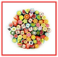 Big Promotion! (500pcs/set)Nail Art Fimo Canes Rods Sticks Sticker Decoration Lovely Animal Fruit Flower Dollhouse+Free Blade