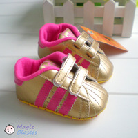 Free shipping,2013NEW,3pieces/lot,Baby shoes, sports shoes, toddler shoes, non-slip, soft bottom, golden, Spring and Autumn
