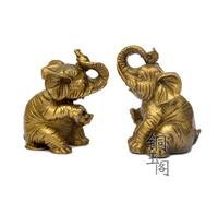 Brass elephant decoration lucky Ruyi derlook