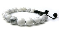 Fashion Shamballa Jewelry Rope Handmade High Quality White Howlite 10mm Beaded Shamballa Bracelet for Men and WomenFreeShipping