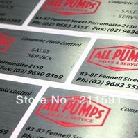 Electrical Gloss Silver Sticker In Sheets