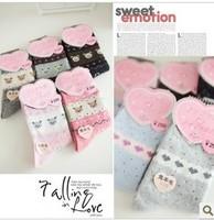 2014 autumn and winter thickening thermal wool socks high men and women socks rabbit fur socks