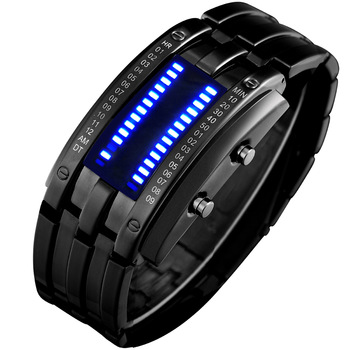Watch student watch waterproof led electronic watches vintage tungsten steel male table