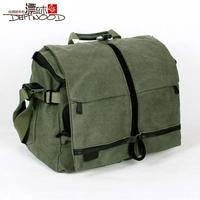 Floodwood 100% cotton canvas male bag for canon camera bag women's handbag shoulder bag