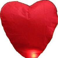 Free shipping heart sky lantern flying paper lantern 10pcs/lot 4 color choice