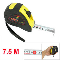 25mm Widht 7.5 Meters Length Black Yellow Shell Magnetic Measure Tape free shipping