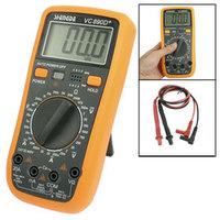 Black Orange Volt Amp Ohm Meter SD890D Digital Multimeter w 2 Test Leads free shipping