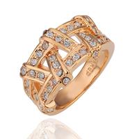 PR063 Wholesale 18K Gold Dimond the Ring o womens bague anel ouro aneis para as mulheres anillos anel casamento