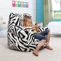 Free shipping ORIGINAL ZEBRA Junior beanbag armchair, fashion children bean bag cushion, NEW arrival child seat sac armchairs
