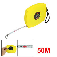 Yellow Shell Retractable Steel Tape Measure Measuring Tools 50M x 10mm free shipping