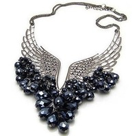 Min.order is $10 (mix order) Buys retro dream wings crystal necklace YX-0050