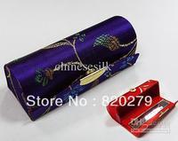 Vintage Lipstick Case with Mirror Silk Metal clasp Eco Friendly Lip Balm Tubes 12pcs/lot