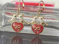 Minimum order request $9.99 (U can mix order) romantic cute bird heart earrings J03