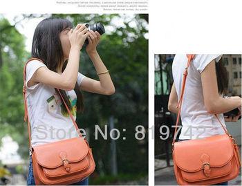 PU Leather Digital SLR Camera Lens Case Gadget Bag Casual Shoulder Bag DSLR Camera Messenger Bag For Pentax Sony Olympus Hot