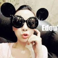 2013 new fashion personality sunglasses ladygaga MIKEY MOUSE flip sunglass glasses 130389